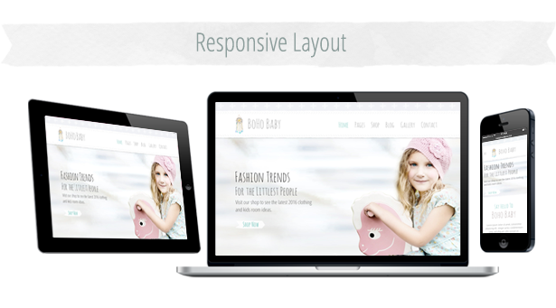 Responsive Baby Theme Version