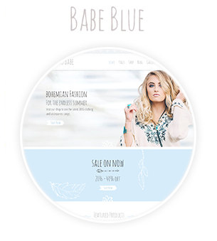 Babe Blue Girl Colored Theme Demo