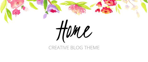 Home Blogger WordPress Theme