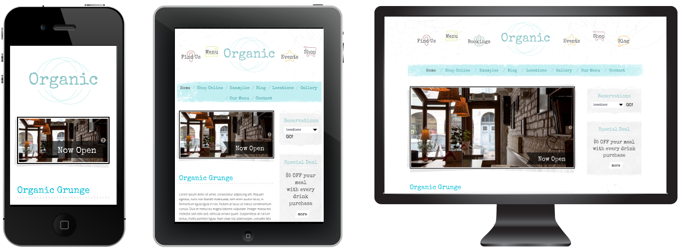 Responsive Grunge Theme - Light color version